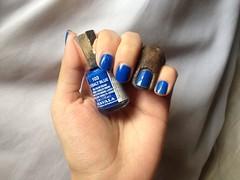 Cobalt Blue (Mavala) (Daniela nailwear) Tags: cobaltblue mavala technicolors azul cremoso esmaltes esmalteimportado mãofeita