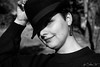 A beautiful girl ! (by SlowCat) Tags: 0204 portrait girl perfection monochrome blackandwith top hat chapeau fille femme woman noiretblanc nimes occitanie france personne canonfrance canon tamron tag