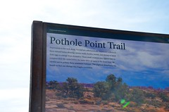 Pothole Point Trail (Joe Shlabotnik) Tags: nationalpark utah sign 2017 canyonlands november2017 canyonlandsnationalpark afsdxvrzoomnikkor18105mmf3556ged