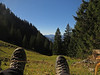 Doing exactly nothing (aniko e) Tags: autumn hiking feet mountains forest outdoors meadow germany schönberg mariaeck