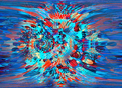 Bursting Paint (Paul B0udreau) Tags: fractal photomatix layer challenge abstract kreativepeople paulboudreauphotography tonemapping digitalabstract digitalart art photoshop