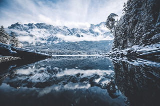 Eibsee reflections.