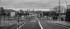 Gateshead looking to Newcastle upon Tyne. (CWhatPhotos) Tags: street durham road uban black white mono monochrome furniture sign signs horizon city newcastle view photographs photograph pics pictures pic picture image images foto fotos photography artistic cwhatphotos that have which with contain gateshead tyne wear north east england uk olympus penf pen f micro four thirds 43 camera 17mm f18 prime zuiko lens