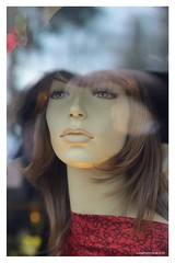 Lady in a store window (JSB PHOTOGRAPHS) Tags: jsb278000001 tokina2870mm12628atxpro face reflection reflections eugeneoregon