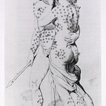 Bloodletting: Statues of Venus & Adonis with circles illustrating puncture points thumbnail
