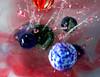 Marbles having a ball,... or 6 (Wim van Bezouw) Tags: marble water splash drop sony ilce6000 pluto plutotrigger milk