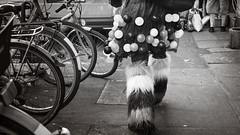 Gone (Renate Bomm) Tags: renatebomm samyangaf35mmf28 sonyilce6000 veilchendienstag karneval 7dwf bw bwandsepia ballon fahrrad stiefel aschermittwoch beine schwarzweis