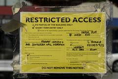 20180109_1863_7D2-45 Restricted (johnstewartnz) Tags: canon canonapsc apsc eos 7d2 7dmarkii 7d canon7dmarkii canoneos7dmkii canoneos7dmarkii kaikoura restricted yellowsign restrictedaccess 2470 2470mm ef2470mmf4l