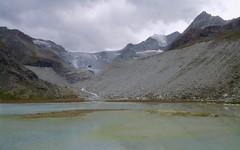 trickling down (Riex) Tags: glacier ice moraine glacial bassin lake lac moiry dam barrage montagne mountain alps alpes anniviers valdanniviers valais wallis suisse switzerland schweiz g9x