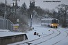 22009 approaches Sallins, 28/2/18 (hurricanemk1c) Tags: railways railway train trains irish rail irishrail iarnród éireann iarnródéireann 2018 22000 rotem icr rok 3pce sallins sallinsandnaas snow 22009