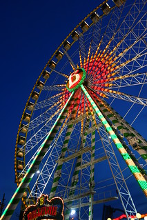 the ferris wheel at the blue hour