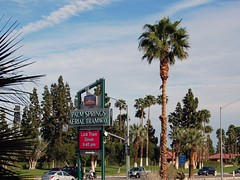 Palm Springs Aerial Tramway (Dogbite) Tags: palmsprings california sign tram palm tree