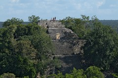 View Of The Top of 'Structure 1' from The Top Of 'Structure 11' (The Great Pyramid), Calakmul (elhawk) Tags: mexico campeche maya mayanruins temple calakmul pyramid structure1 structure11