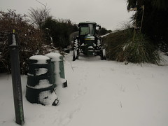 Tractor Time (sam2cents) Tags: johndeere tractor green snow white snowscape winter wintry wicklow ireland