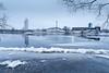 Arrival (Villem Voormansik) Tags: blue cold winter ice river emajõgi tartu tigutorn sadamateater turusild vesi water flow longexposure cityscape