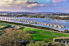 Boats of The Medway (Geoff Henson) Tags: river water kent rochester chatham medway view landscape