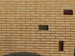 Another Glasbaustein in the wall (mkorsakov) Tags: dortmund nordstadt hafen kleingarten schrebergarten communitygarden wand wall glasbaustein glassbrick minimal schatten shadow