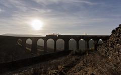 Viaduct in the hills (EltonRoad) Tags: 45699 galatea jubilee class steam train railway line locomotive settle carlisle sc artengill viaduct winter cumbrianmountainexpress dent dentdale railwaytouringcompany westcoast