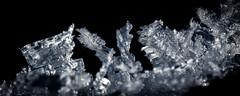 Fresque cristalline (watbled05) Tags: macro eau givre glace fondnoir cristaux neige