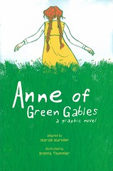 Anne of Green Gables:  a Graphic Novel (Vernon Barford School Library) Tags: lucymaudmontgomery lucy maud montgomery mariahmarsden mariah marsden brennathummler brenna thummler greengables classic classics classicliterature princeedwardisland pei canada canadian history historical comics adaptation adaptations countrylife friendship islands orphans anneshirley anne shirley vernon barford library libraries new recent book books read reading reads junior high middle vernonbarford fiction fictional novel novels paperback paperbacks softcover softcovers covers cover bookcover bookcovers graphic graphicnovel graphicnovels 9781449479602 cartoons