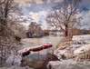 Loads of snow (MarkandJackiephotos) Tags: purple water snow boats park trees clouds sky bushes motepark kent