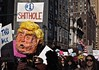 #1 SHITHOLE (Professor Bop) Tags: placard march 2018 womensmarch2018 nyc newyorkcity olympusem1 protest rally antitrump donaldtrump photojournalism dissent hashtagresist resistance resist people protesters news womensmarch shithole signs street pussyhats impeach racism