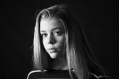 Everything You Don't Know (PerilunePhoto) Tags: blackandwhite photography photoshop studiolighting studioportrait clevelandphotography cleveland clevelandphotograher composition