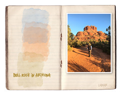 "The colors of the Southwest (lamarstyle) Tags: lamarstyle lamarstylepblamar 2018 iphone iphone6s digitalphotoartjournal journaling vintage ""vintage paper"" oldpaper oldpapers vintagepaper southwest bellrock sedona"
