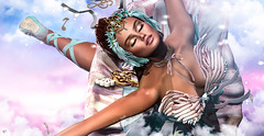 Dream Ballet (meriluu17) Tags: moonamore avaway poseidon ballet dancer dance dream pastel people portrait feather swan swanna wings key doll dolly dreamy fantasy