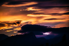 Misook Lee (Melissa Maples) Tags: antalya turkey türkiye asia 土耳其 nikon d3300 ニコン 尼康 nikkor afs 18200mm f3556g 18200mmf3556g vr snow mountains clouds winter evening dusk sundown sunset silhouette orange