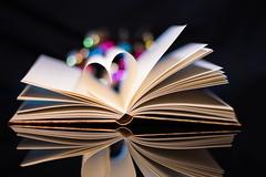 Fantasy Book (Theo Crazzolara) Tags: book reading read fantasy love heart romantic romance buch lesen liebe herz fantasie education library colour colorful bokeh fiction