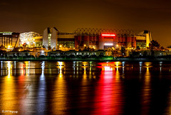 Old Trafford Night Lights (The Kinpin1999) Tags: old trafford manchester united colours night football stadium