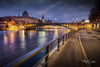 The banks of the Seine (marko.erman) Tags: conciergerie paris france seine river city architecture monument history famous popular night long exposure wide angle high pov blue hour heure bleue reflections light illuminations beautiful palace justice water sony cityscape