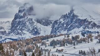 Winter landscape in the Dolomites