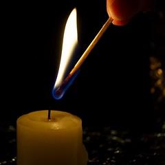 ready to light (ladybugdiscovery) Tags: candle light fire flame square macro