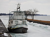 The former tugboat Edith Gauthier in the Galop Canal in Iroquois, Ontario (Ullysses) Tags: edithgauthier tugboat galopcanal iroquois ontario canada winter hiver charleshgauthier divingboat stlawrenceseaway stlawrenceriver