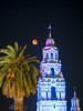 Supe Blue Bood Moon and the California Tower - Balboa Park (Jun C Photography) Tags: night olympus microfourthirds omd mkii astrophotography super sandiego moon u43 em5 blood lunareclipse sky markii mk2 mft blue
