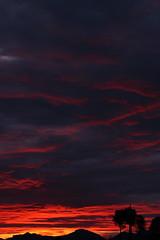 Sunset 2 2 18 #06 (Az Skies Photography) Tags: sun set sunset dusk twilight nightfall sky skyline skyscape cloud clouds rio rico arizona az red orange yellow gold golden salmon black riorico rioricoaz arizonasky arizonaskyline arizonaskyscape arizonasunset canon eos 80d canoneos80d eos80d canon80d february 2 2018 february22018 2218 222018