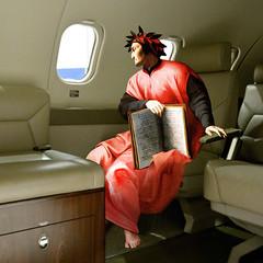 Dante in airplane (jaci XIII) Tags: pintura avião poeta escritor medievo pessoa homem painting airplane poet writer medieval man person