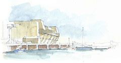 Lorient, Base sous marine, Morbihan, France (Linda Vanysacker - Van den Mooter) Tags: lorient basesousmarine morbihan france watercolor watercolour visiblytalented vanysacker vandenmooter tekening sketch schets potlood pencil lindavanysackervandenmooter lindavandenmooter drawing dessin croquis crayon art aquarelle aquarell aquarel akvarell acuarela acquerello