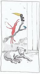Brasil, Bahia, Salvador, stray dog (pirlouit72) Tags: bresil brasil brazil salvador bahia salvadordebahia sketch drawing dessin croquis urbansketch urbansketcher urbansketchers carnetdevoyage unesco dog chien