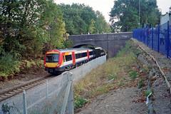 DHMU 179306, Chandlers Ford Station, 19 Oct 2003 (Ian D Nolan) Tags: chandlersfordstation 35mm epsonperfectionv750scanner railway station dhmu 170306 class170