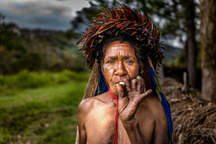 Woman of the Dani's Tribe (tehhanlin) Tags: ikipalin indonesia culture people portrait papua wamena places travel danitribe dani sukudani sony ngc purba isolated tribe tribes amputatedfinger