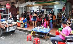 Beauty Salon (CAMBODIA) (ID Hearn Mackinnon) Tags: cambodia cambodian phnom penh 2017 south east asia asian beauty salon women hairdresser hairdressing street open air culture society shop