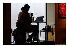 Phone (TooLoose-LeTrek) Tags: computer phone network woman window