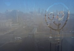 Face in My Hotel Room Window (ricko) Tags: face condensation window hotelroom 946 westincrowncenter kansascity moisture 47365 2018