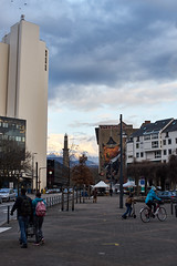 The streets of... Grenoble #40 In explore on February the 19th (richardtostain) Tags: place street rue mountain clouds life colouor sony a7ii pentax fa 43mm f19 art