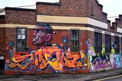 Graffiti, Street Art, Mural near The Cistard Factory (Manoo Mistry) Tags: nikon nikond5500 tamron tamron18270mmzoomlens birmingham birminghampostandmail englanduk westmidlands mural graffiti streetart