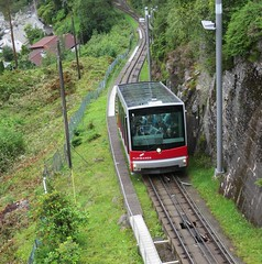 Mount Floien Funicular (White Pass1) Tags: trees funicular trackmountfloien bergen norway cables funicularcar mountasinrailway fløibanen