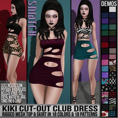 Sn@tch Kiki Cut-Out Club Dress Vendor Ad LG (Tess-Ivey Deschanel) Tags: sntch snatch secondlife sl second style sexy specials clothing clubwear clothes women winter womens mesh model meshclothing meshclothes models iveydeschanel ivey ihearts deschanel dresses dress designer discount skirts sweaters costumes casual punk pixels pants pulse pvc party